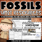 Fossils & Earth Surface Unit Resources *Test Included!