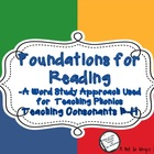 Foundations for Reading: Teaching Initial Consonant Sounds B-H