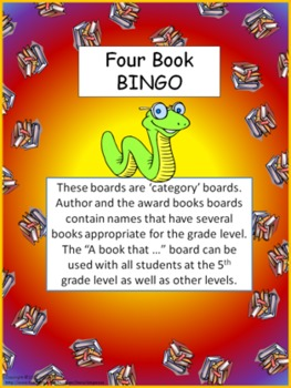 Four Book BINGO (5th grade)- Independent Reading Activity