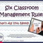 Four Classroom Management Rules-That&#039;s All You Need!