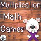 Four Multiplication Basic Fact Games and Flash Cards for f