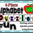 Four Piece Alphabet Puzzles Fun A to Z