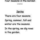 Four Seasons in the Garden Early Reader