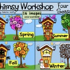 Four Seasons of Whimsy Town Clip Art (16 images)