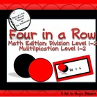 Four in a Row ( Division Levels 1-2/ Multiplication Levels 1-2)