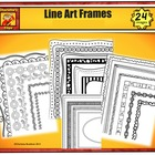 Fourteen Black and White Borders and Frames- For Personal