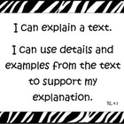 "Fourth Grade Common Core English Language Arts ""I Can"" Statements"