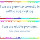 Fourth Grade Common Core I Can Statements - ELA - Language