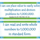 Fourth Grade Common Core I Can Statements - Numbers and Op