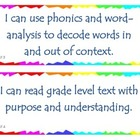 Fourth Grade Common Core I Can Statements - Reading Founda
