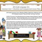 Fourth Grade Common Core Language Arts Checklists and Drop