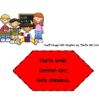 Fourth Grade Common Core Math Standards