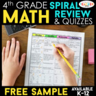 Fourth Grade Common Core Math Homework - FIRST QUARTER - 2 Weeks
