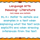 Fourth Grade English Language Arts CCS orange background