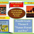 Fourth Grade Houghton Mifflin Vocab Theme 6 Cloze - Fill i