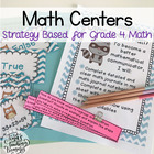 Fourth Grade Math Centers: By Strategy- All 10 BUNDLE