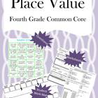 Fourth Grade Place Value Math Unit - Common Core