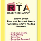 Fourth Grade Read and Respond Sheets for California Readin