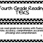 Fourth Grade Reading TEKS- White Dots on Black