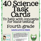 Fourth Grade Science Test Prep Cards