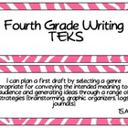 Fourth Grade Writing TEKS~ Pink Zebra
