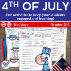Fourth of July Activity Pack! CCSS!