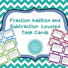 Fraction Addition and Subtraction Word Problem Task Cards