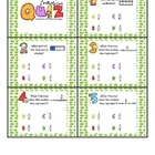 Fraction Assessment Cards