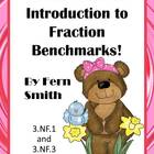 Fraction Benchmark Center Game for Common Core - Easter Themed