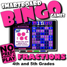 Fraction Bingo with Interactive Whiteboard Option