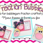 Fraction Bubbles {a fun bubblegum fraction craftivity}