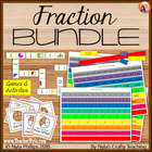 Fraction Bundle - Fraction Strips - Dominoes - and War