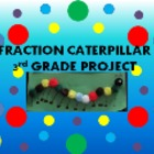 Fraction Caterpillar 3rd Grade Package