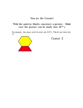 Fraction Centers 6 activities