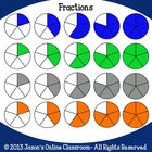 Fraction Circles Clipart