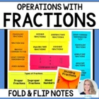 Fraction Concepts Foldable Notes & Graphic Organizers {Int