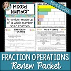 Fraction Concepts and Operations Review Packet