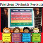 Fraction, Decimal, Percent Math Charts