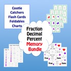 Fraction Decimal Percent Memory Bundle Cootie Catchers, Fl