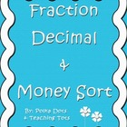 Fraction Decimal and Money Sort