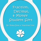 Fraction Decimal and Money Student Cards