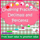 Fraction Decimal and Percent Sorting and Matching Activities