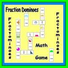 Fraction Dominoes in colour- Fractominoes!