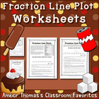 Fraction Line Plot Worksheets