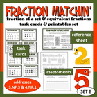 Fraction Matchin' – equivalent fractions task cards + prin