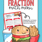 Fraction Math Menu