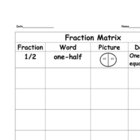 Fraction Matrix