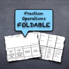 Fraction Operations Paper Foldable Study Guide - Summarize