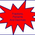 Fraction, Percent And Decimal Conversion Wall Hangings(Rai