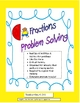 Fraction Problem Solving: Word Problems